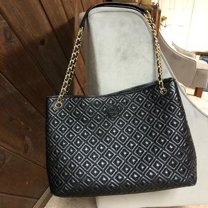 💎Tory Burch Marion Diamond Quilted Leather Tote💎